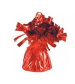 Fringed Foil Balloon Weight - Red