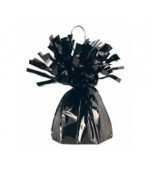 Fringed Foil Balloon Weight - Black