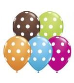 "Balloon - Latex, Print 11"" Polka Dot"