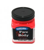 Face & Body Paint - Large, Fluro Red