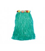 Hula Skirt - Caribbean With Flower Waist, Green