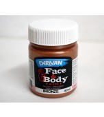 Face & Body Paint - Metallic, Small Bronze