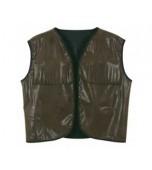 Vest - Faux Brown Leather, Cowboy