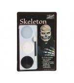 Mehron Tri-colour Make-up Palette, Skeleton