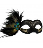 Adrianna Mask - Black and Gold