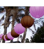 "Festoon Lantern Kit, 14"" Musk Pink & Brown"