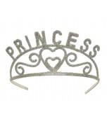 Tiara, Metal - Silver Princess