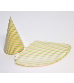 Party Cone - Pink & Green Candy Stripe
