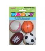 Sports Balls - Soft, Variety 4 pk