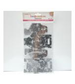 Bonbonniere Boxes - Silver Damask, Small 10 pk