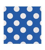 Luncheon Serviettes - Polka Dots Blue