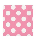 Luncheon Serviettes - Polka Dots Pink