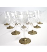 Cocktail/Martini Glasses, Gold Base 10 pk