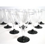 Cocktail/Martini Glasses, Black Base 10 pk