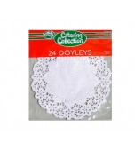Doilies 166 mm, Round 24 pk