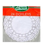 Doilies 215 mm, Round 24 pk