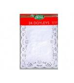 Doilies, Rectangle White 24 pk