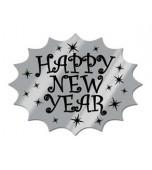 Cutout - Happy New Year, Silver