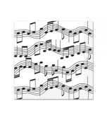 Luncheon Serviettes - Music Notes 16 pk