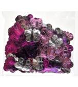 Scatters/Confetti, Butterflies - Pink/Silver