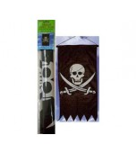 Banner/Door Panel - Pirate Skull Flag