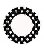 Dinner Plates - Polka Dots Black 8pk