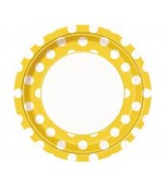 Plates - Dinner, Polka Dots Yellow 8 pk