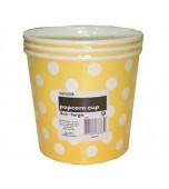 Popcorn Cups, Large - Polka Dots, Yellow 3 pk