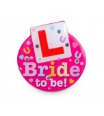 Badge - Bride to Be, L Plate LED