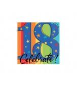 Beverage Serviettes, Celebrate 18