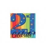 Beverage Serviettes, Celebrate 21