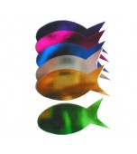 Cutouts - Silhouette - Fish - Red 12 pk