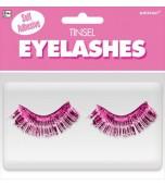 False Eyelashes - Tinsel, Pink