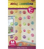 Ceiling/Hanging Decoration - Groovy Hippie Strings 6 pk