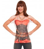 Adult Costume - Faux Real Shirt, Ladies' Pirate