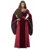 Adult Costume - Medieval Queen, Red