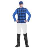 Adult Costume - Men's Jockey Black & Blue