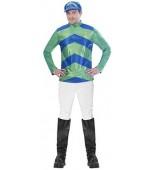 Adult Costume - Men's Jockey Green & Blue