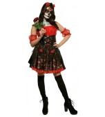 Adult Costume - Red Rose, Day of the Dead