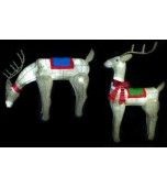 Animated Reindeer - Burlap, Assorted