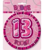 Badge - Glitz Pink, 13th Birthday