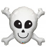 Balloon - Foil Super Shape, Happy Skull