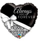 Balloon - Foil Heart, Wedding Always & Forever