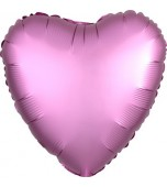"Balloon - Foil, Heart 18"" Satin Flamingo Pink"