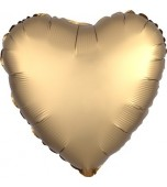 "Balloon - Foil, Heart 18"" Satin Gold"