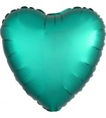 "Balloon - Foil, Heart 18"" Satin Jade"