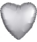 "Balloon - Foil, Heart 18"" Satin Platinum"