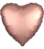 "Balloon - Foil, Heart 18"" Satin Rose Copper"
