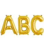 Balloon - Foil Letter, Medium Gold
