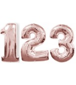 Balloon - Foil Number, Large Rose Gold